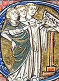 Medieval conductus clerics singing