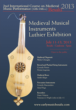 Early Music Besalú Luthier Exhibition 2013