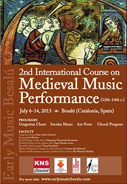 Past Courses - Medieval Music BesalúMedieval Music Besalú