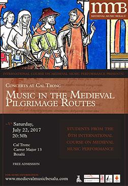 Medieval Music Besalú student concert poster 2017