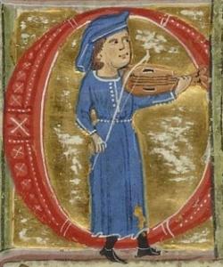 troubadour with fiddle